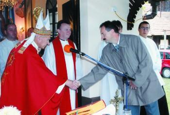 Škof dr. Jožef Smej in župan Občine Moravske Toplice